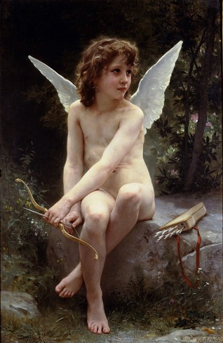 William Adolphe Bouguereau (William Bouguereau) (1825-1905) Amour a l'affut Oil on canvas 1890