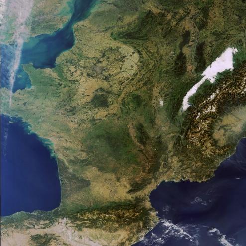 ENVISAT---MERIS---France---01-10-2011---10h24